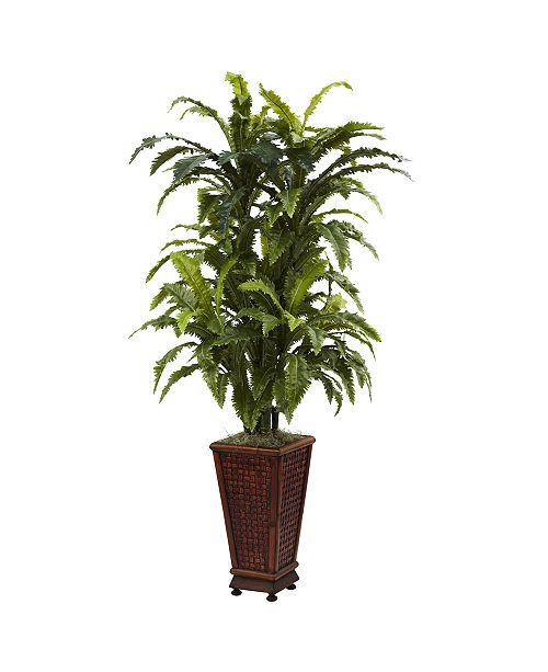 Nearly Natural Marginatum w/ Decorative Planter