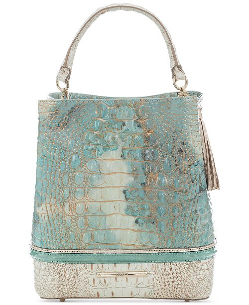 Brahmin Amelia Serendipity Leather Schulz Bucket Bag