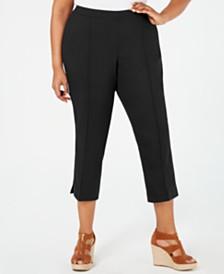MICHAEL Michael Kors Plus Size Pull-On Capri Pants