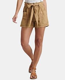 Belted Patch Pocket Shorts