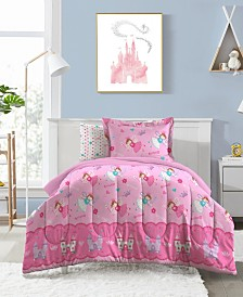 Dream Factory Magical Princess Toddler Comforter Set