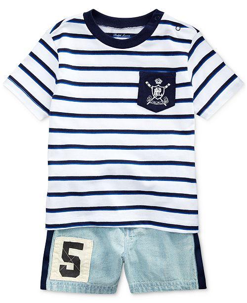 606760d61 Polo Ralph Lauren Baby Boys Cotton T-Shirt & Shorts Set & Reviews ...