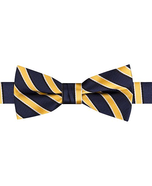 Tommy Hilfiger Toddler & Little Boys Rep Stripe Pre-Tied Silk Bow Tie