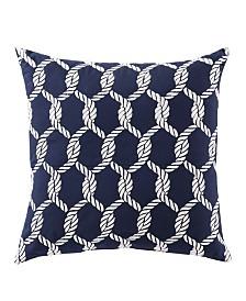 Montauk Embroidered Cotton 18x18 Pillow