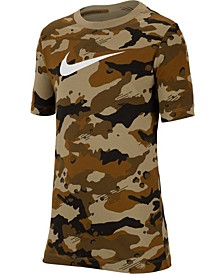 Big Boys Camo-Print Cotton T-Shirt