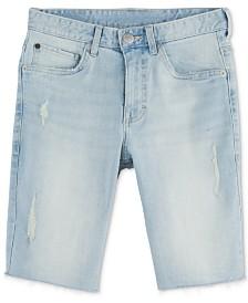 Calvin Klein Big Boys Rip & Repair Denim Jean Shorts