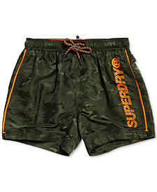 """Superdry Men's Camouflage 23"""" Swim Trunks, Created for Macy's"""
