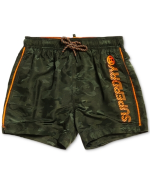 "Superdry Pants MEN'S CAMOUFLAGE 23"" SWIM TRUNKS, CREATED FOR MACY'S"