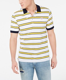 GUESS Men's Stripe Polo Shirt