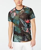 497cf0a277 GUESS Men's Wynn Wild Jungle Graphic Semi-Sheer T-Shirt