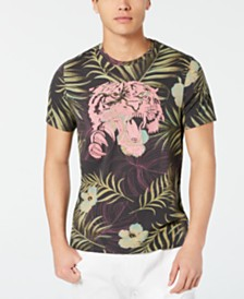 GUESS Men's Jungle Tiger Graphic T-Shirt
