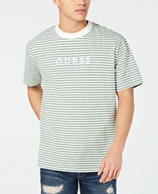 GUESS Originals Men's Go Stripe Logo Graphic T-Shirt
