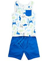 ab05b2de First Impressions Baby Boys Tank Top, Polo Shirt & Shorts, Created for  Macy's