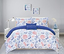 Talulah 8 Piece Queen Bed In a Bag Duvet Set