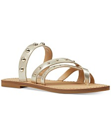 Nine West Clara Studded Flat Sandals