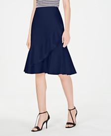 Calvin Klein Petite Ruffle-Front Skirt