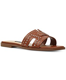Genesia Studded Slide Sandals