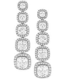 Cubic Zirconia Drop Earrings in Sterling Silver