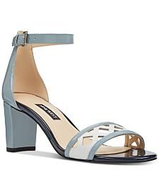 Nine West Paisley Block-Heel Sandals