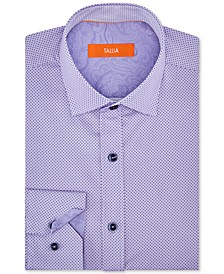 Orange Men's Slim-Fit Performance Stretch Mini Dot Dress Shirt