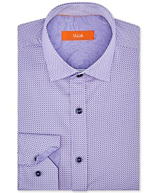 Tallia Orange Men's Slim-Fit Performance Stretch Mini Dot Dress Shirt