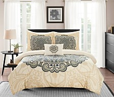 Chic Home Palmer 8-Pc. Bed In a Bag Comforter Sets