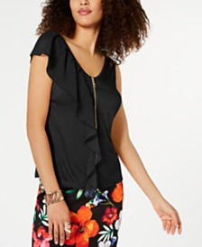 Thalia Sodi Ruffle Blouse, Created for Macy's