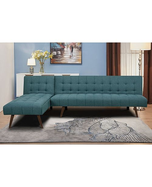 Gold Sparrow Shelton Convertible Sectional Sofa Bed