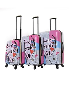 Nikki Chalinau Sure 3-Pc. Hardside Spinner Luggage Set