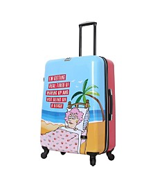 "Halina Aunty Acid Trip 28"" Hard Side Spinner Suitcase"