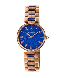Catherine Automatic Blue Dial, Rose Gold Stainless Steel Watch 36mm
