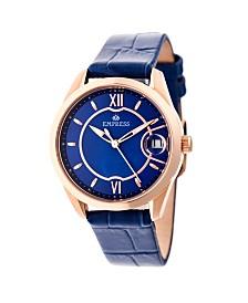 Empress Messalina Automatic Blue Leather Watch 34mm