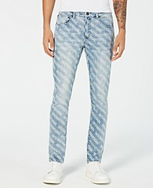 INC Men's Skinny-Fit Logo Graphic Jeans, Created for Macy's
