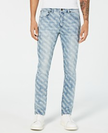 I.N.C. Men's Skinny-Fit Logo Graphic Jeans, Created for Macy's
