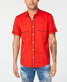 I.N.C. Men's Piped Ripstop Shirt, Created for Macy's