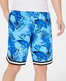 INC Men's Utopia Botanical Skull Print Shorts, Created for Macy's