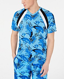 INC Men's Botanical Skull Print T-Shirt, Created for Macy's