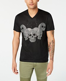 I.N.C. Men's Fire Skull T-Shirt, Created for Macy's