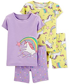 Baby Girls 4-Pc. Unicorn Pajamas Set