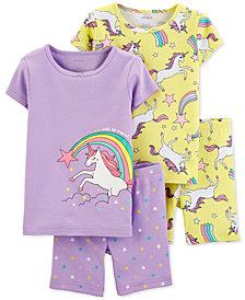Carter's Baby Girls 4-Pc. Unicorn Pajamas Set