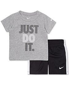 873741998724 Nike Baby Boys 2-Pc. Just Do It Graphic T-Shirt   Shorts