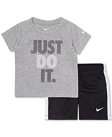 74191446cdb4fa Nike Baby Boys 2-Pc. Just Do It Graphic T-Shirt   Shorts