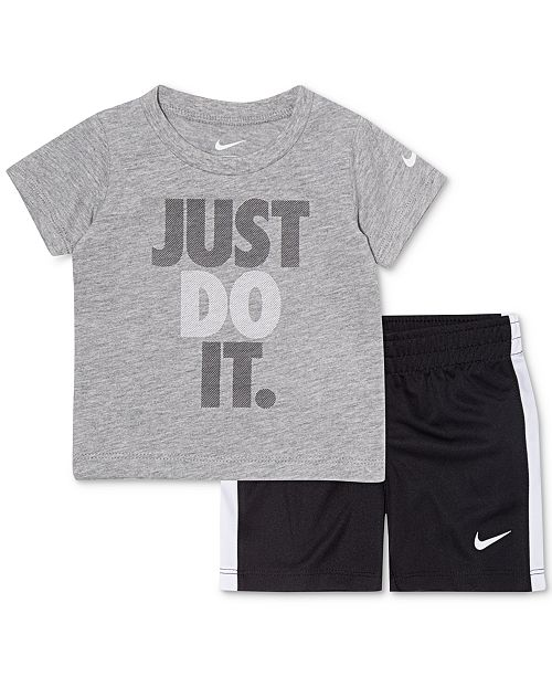 61d65954d44d ... Nike Baby Boys 2-Pc. Just Do It Graphic T-Shirt & Shorts ...