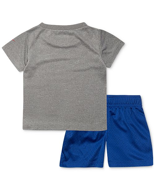 78a21193d Nike Baby Boys 2-Pc. Dri-FIT Goal Oriented Graphic T-Shirt & Shorts ...