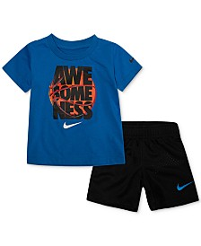 Nike Baby Boys 2-Pc. Awesomeness Graphic T-Shirt & Shorts Set