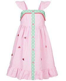 Good Lad Toddler Girls Watermelon Gingham Seersucker Dress