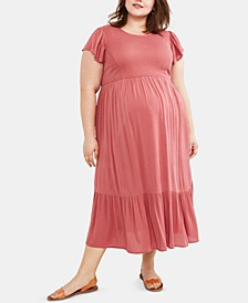 Plus Size Ruffled Dress