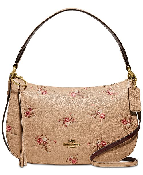 7e108c28cf Floral Print Leather Sutton Crossbody