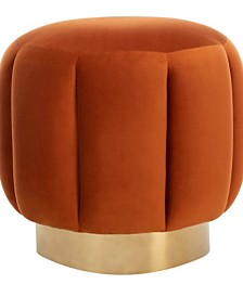 Maxine Channel Tufted Ottoman, Quick Ship