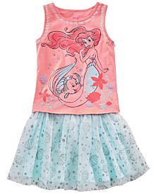 Disney Toddler Girls 2-Pc. Ariel Tank Top & Printed Skirt Set, Created for Macy's